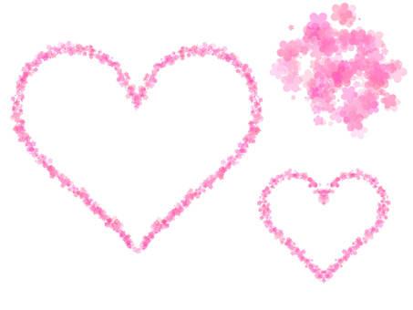 Small flower heart frame