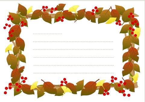 Dead leaf frame message card