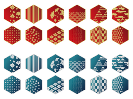 Japanese pattern material - tortoise shell - 2