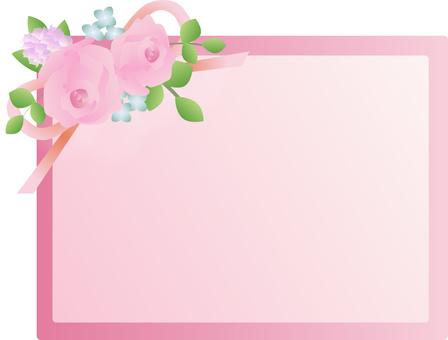 Rose rose frame