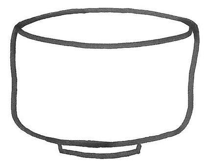 Ceramic art pottery brown wool 001