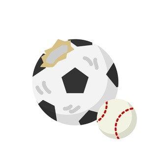 Separation of garbage - broken ball