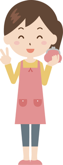 Woman | housewife | apron | wallet