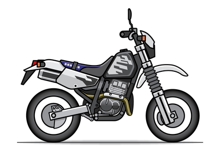 Motorcycle illustration (off-road)