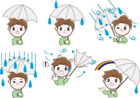 Umbrella ・ Male (20-40 generations) ・ Upper body