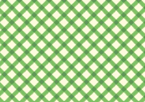 チェックの背景(緑)