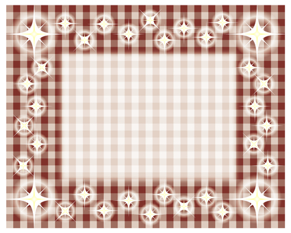 Glitter Gingham Check - Brown