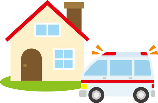 House and ambulance