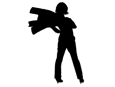 Business woman silhouette
