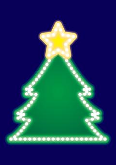 Neon sign · Christmas tree