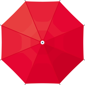 Umbrella seen from directly above red red