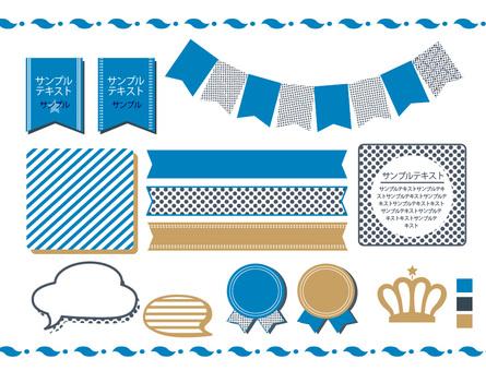 Frame & amp; ribbon (blue)