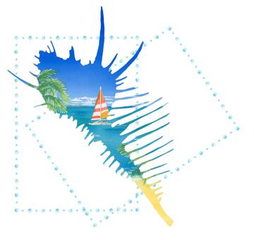 조개와 바다 ★ 0225-D