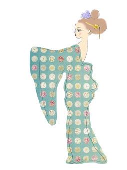 着物を着た女の子