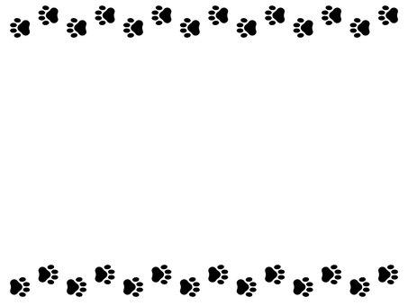 Dog footprint frame black