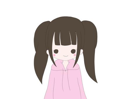 Twin tailed girl