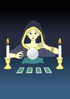 Fortune teller woman