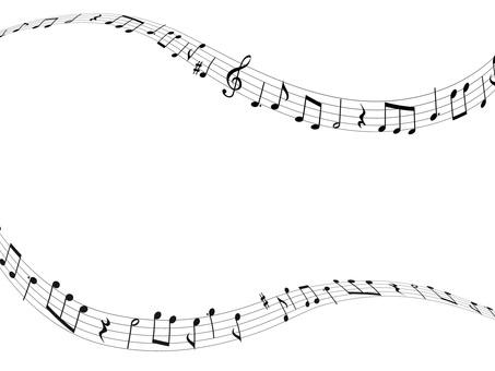 음악 음표 일러스트 04 · 흐르는 음악