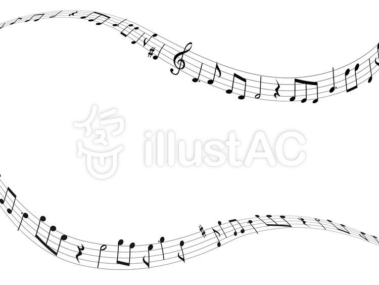 音楽音符イラスト04流れる音楽イラスト No 533014無料イラスト