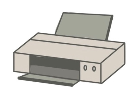 Illustration of a printer