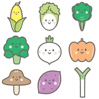 Cute vegetable set 2