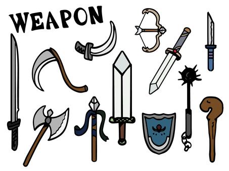 ゲームの武器イメージ