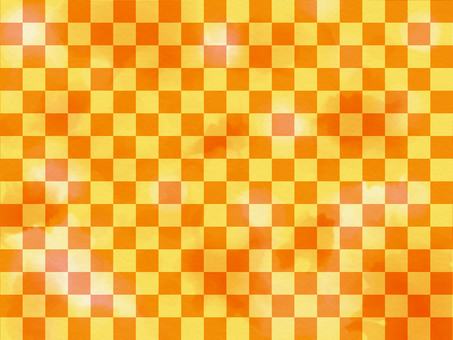 Watercolor checkered gold orange