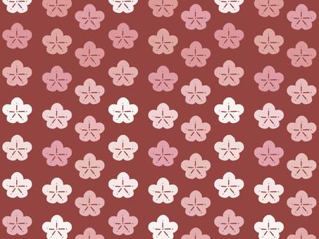 Chiyogami plum (red)