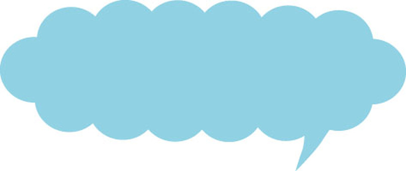 Speech bubbles (horizontally long and light blue)