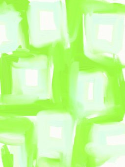 Watercolor wind dyed green