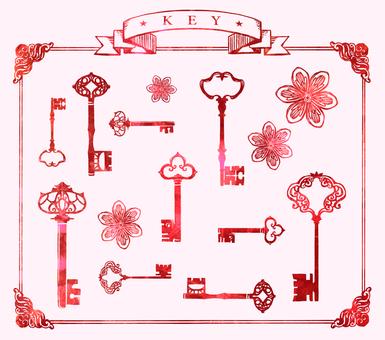 열쇠 키 꽃 바구니 03