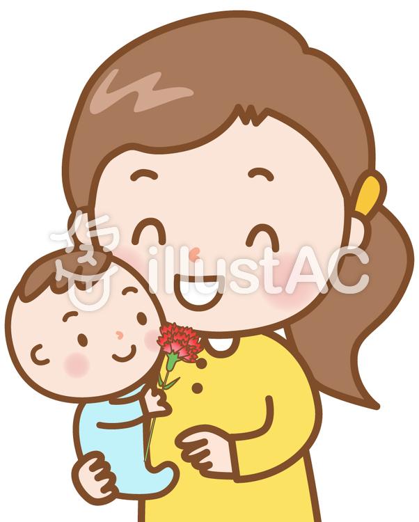 母の日ママと赤ちゃんイラスト No 778761無料イラストなら