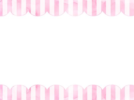Watercolor stripe frame 2 pink