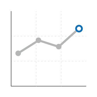 Line chart (blue)