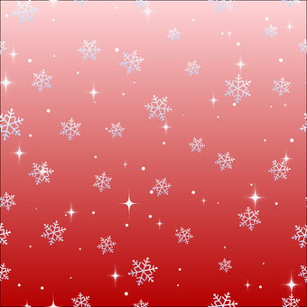 Snow crystal pattern red