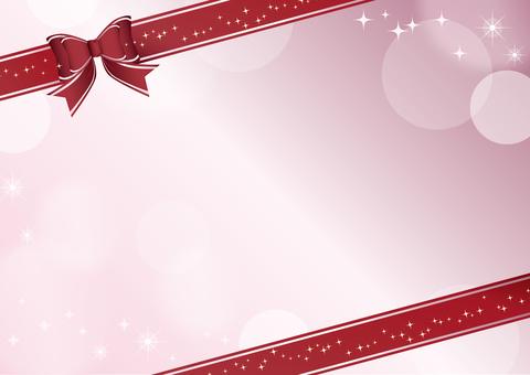 Ribbon card pink diamond