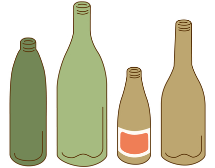Separate garbage / empty bottle with color