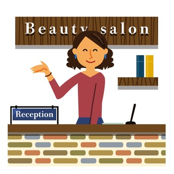 Beauty salon reception