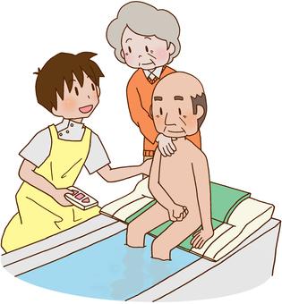 【Rehabilitation】 Bath lift, bathing, ADL