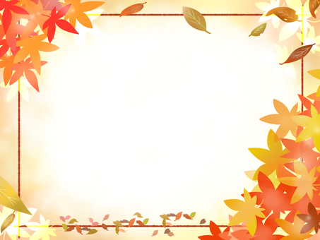 Autumn leaves frame 1