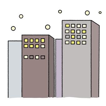 겨울 빌딩