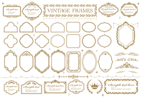 Vintage ornament set 06