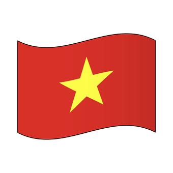 베트남 국기 / 펄럭