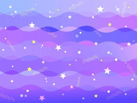 Starry sky wave