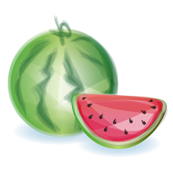 Illustrated watermelon [red]