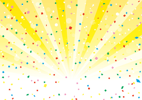 Confettiy and concentration lines _ background material 01
