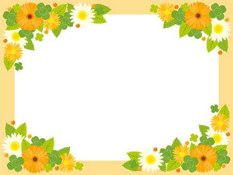 春天橙色框架