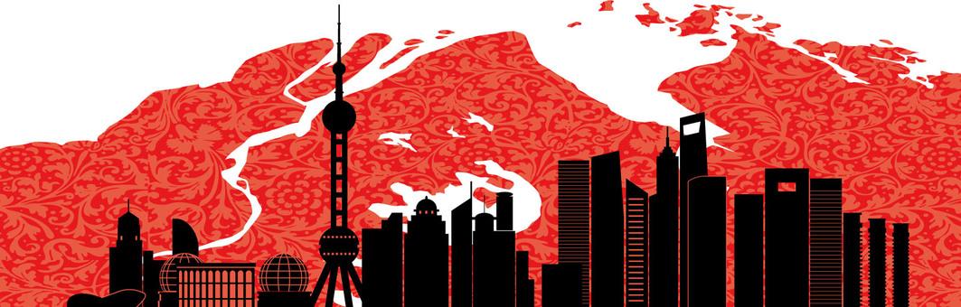 Shanghai silhouette illustration