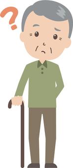 Old man male | grandfather | cane | Hatena