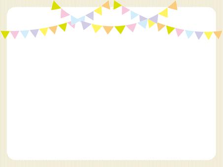Garland flag notepad
